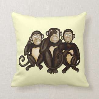 Three Wise Monkeys Cushion