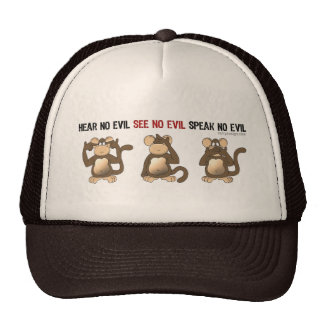 Three Wise Monkeys Hats