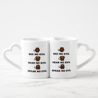 Three Wise Monkeys Interlocking Lover's Mug / Cup