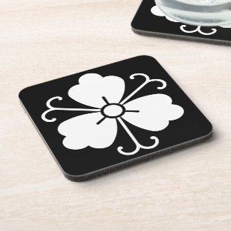 Three wisteria blooms with vines coaster