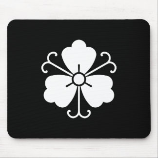 Three wisteria blooms with vines mouse pad