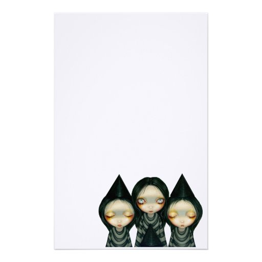 """Three Witchy Sisters"" Stationery"