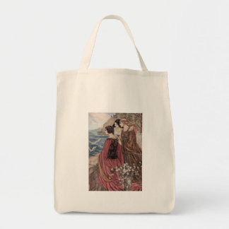 Three Women Looking Out to Sea, Tote Bag