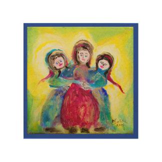 Three women wood wall art