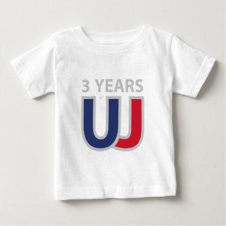 Three years of Union Jack Baby T-Shirt