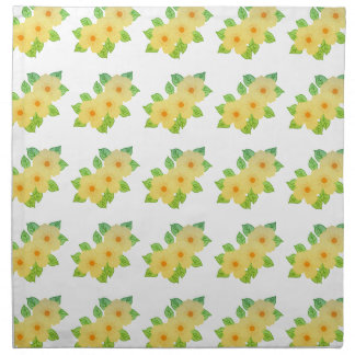 three yellow flowers napkin