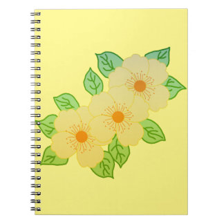 three yellow flowers notebook