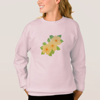 three yellow flowers sweatshirt