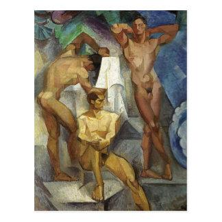Three Young Bathers Postcard