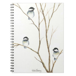 Threesome Chickadees Notebook