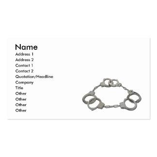ThreeStrikesHandcuffs103110, Name, Address 1, A... Business Card Templates