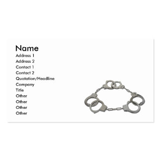 ThreeStrikesHandcuffs103110, Name, Address 1, A... Pack Of Standard Business Cards