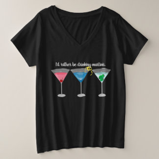 Threetinis Assorted Martinis T-Shirt