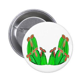 Threme Green - Exotic CACTUS Flowers 6 Cm Round Badge