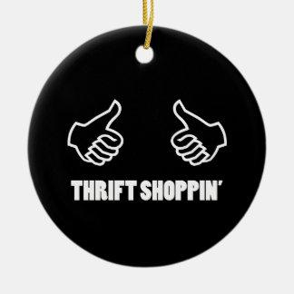 Thrift Shopping Ceramic Ornament
