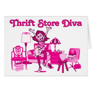 Thrift Store Diva Card