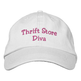 Thrift Store Diva Embroidered Hat
