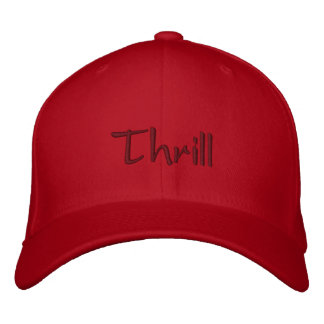 Thrill Embroidered Baseball Caps