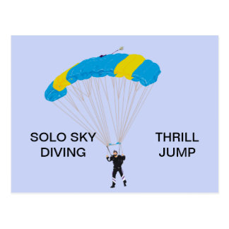 THRILL JUMP-SKY DIVING POSTCARD