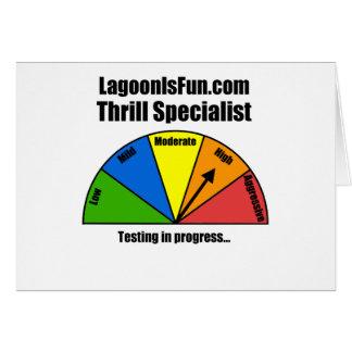 Thrill Specialist Greeting Card