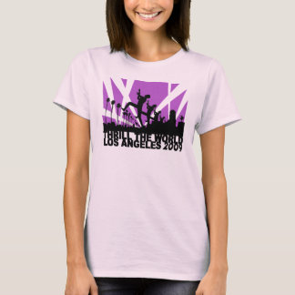 Thrill the World Los Angeles 2009 ~ pink T-Shirt