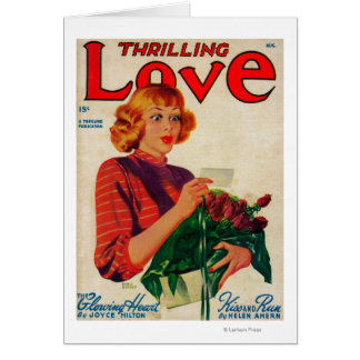 Thrilling Love Magazine Cover Card