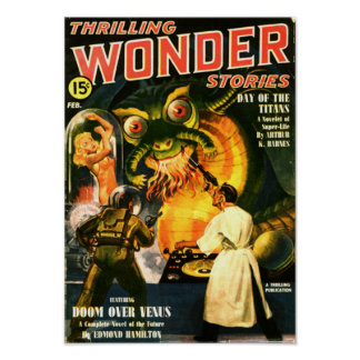 Thrilling Wonder Stories -- Day of the Titans Poster