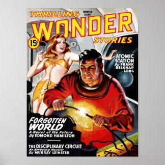 Thrilling Wonder Stories Forbidden World Poster