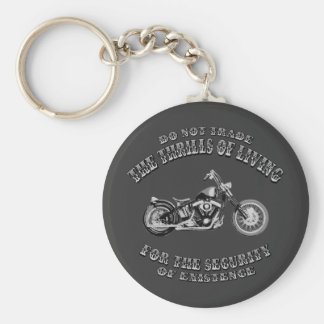 Thrills of Living Basic Round Button Key Ring