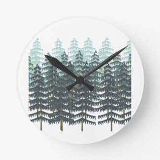 THRIVE IN FOREST WALL CLOCKS
