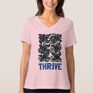 """""""Thrive"""" Women's Relaxed Fit V-Neck T-Shirt"""