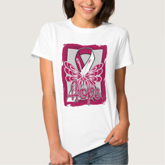 Throat Cancer Hope Butterfly Portrait Shirt
