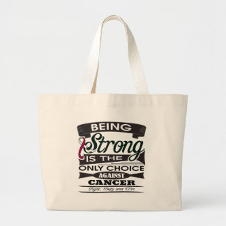 Throat Cancer Strong Canvas Bags