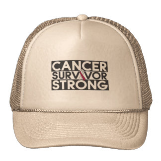 Throat Cancer Survivor Strong Mesh Hats
