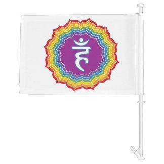 Throat chakra car flag