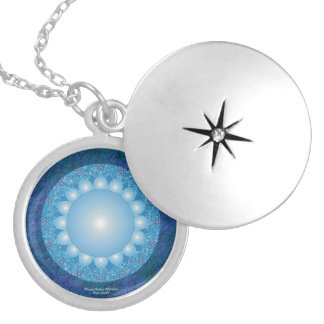 Throat Chakra Mandala Silver Plated Necklace