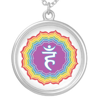 Throat chakra silver plated necklace