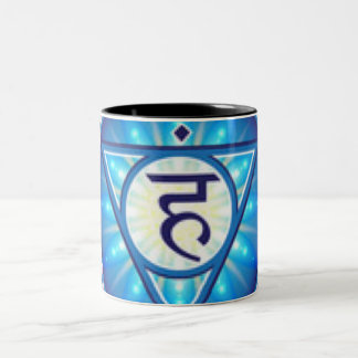 Throat Chakra Two-Tone Coffee Mug