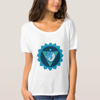 Throat Chakra Visuddha Blue Women's T-Shirt, White T-Shirt