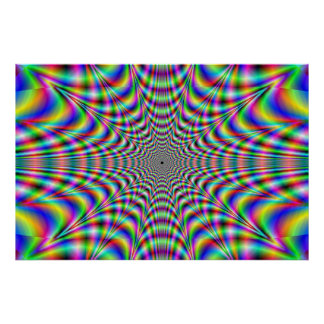 throbbing - optical illusion poster