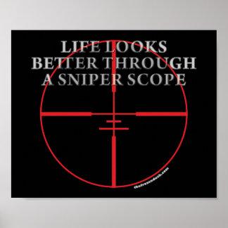 Through a Sniper Scope Poster