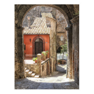 Through an archway in Narni, Umbria, Italy Postcard
