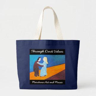 Through Dark Values Large Tote Bag