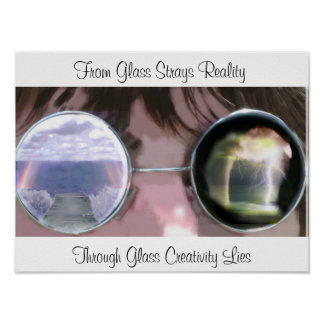 Through Glass, Photo Manipulation Poster