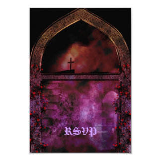 Through the Arch Goth Wedding 9 Cm X 13 Cm Invitation Card