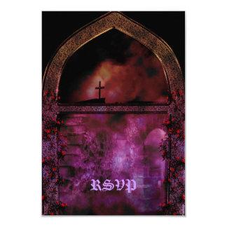 Through the Arch Goth Wedding Card