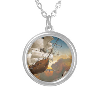 Through the Clouds Silver Plated Necklace