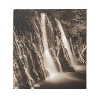 Through the Cracks Burney Falls Notepad