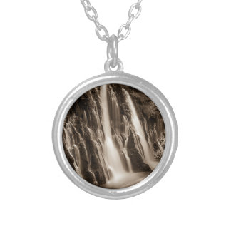 Through the Cracks Burney Falls Silver Plated Necklace