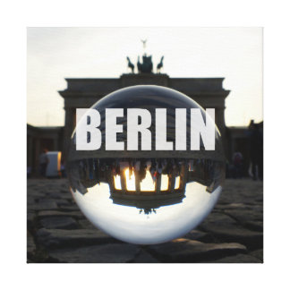 Through the crystal ball, Brandenburg gate Canvas Print